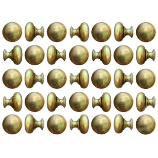 Set of Thirty Five Bronze Knobs For Sale