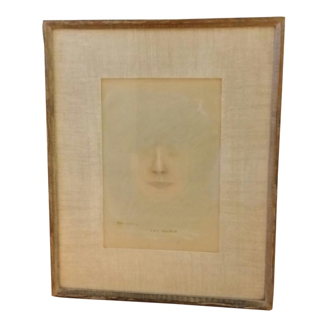 Mid-Century Impressionist Pastel Portait of Woman - Image 1 of 7
