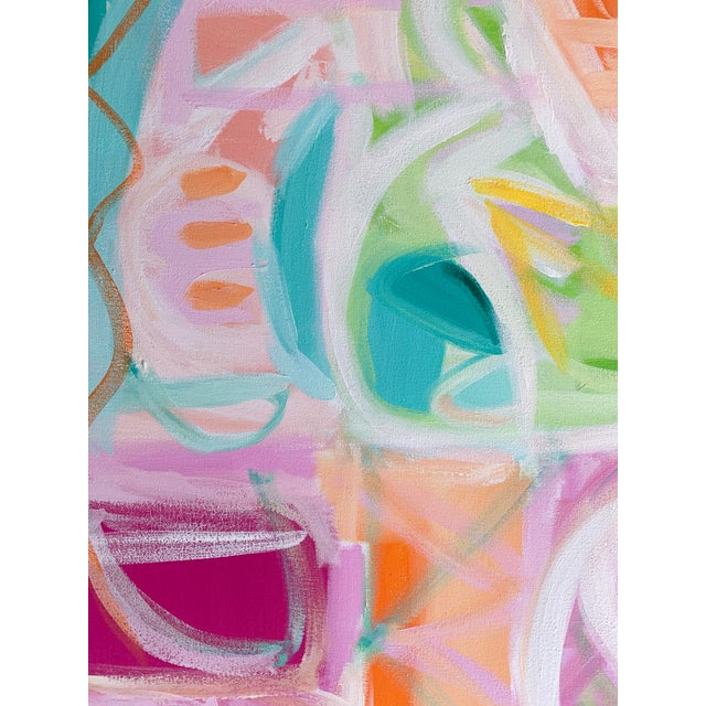 """""""Ritmo"""" Abstract Painting by Christina Longoria For Sale - Image 4 of 5"""