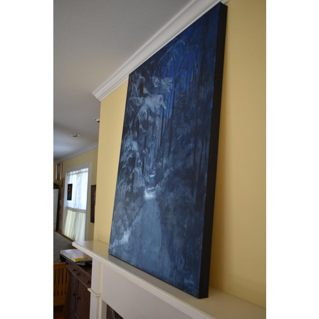 """Contemporary Expressionist Painting by Stephen Remick, """"Following Moonlight"""" For Sale - Image 10 of 11"""