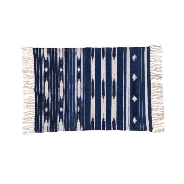 Boho Chic Violet Rug, 9x12, Blue & White For Sale - Image 3 of 3