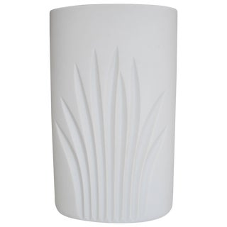 White Matte Porcelain Pottery Vase by Rosenthal For Sale