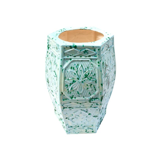 1960s Turquoise Blue Umbrella Stand or Planter - Image 1 of 6