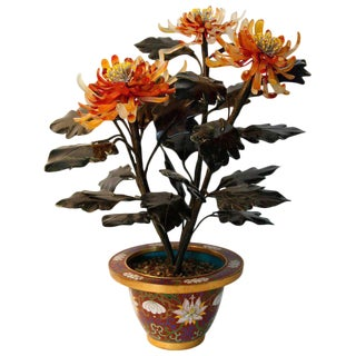 Chinese Jade Tree Planter / Vase For Sale