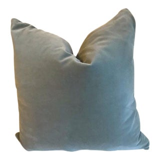 Beacon Hill Elsie Seafoam Colorway Velvet Throw Pillow For Sale