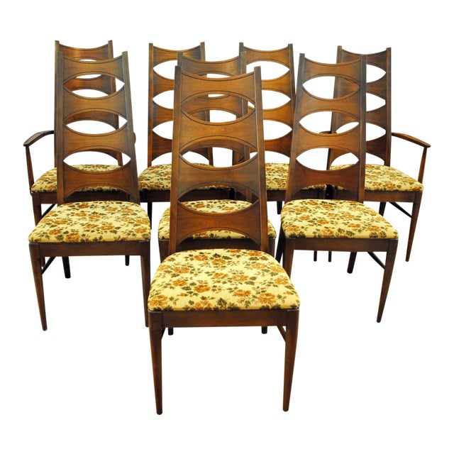 Kent Coffey Mid-Century Perspecta Dining Chairs - Set of 8 - Image 1 of 11