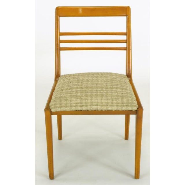 Mid-Century Modern Four Renzo Rutili Walnut & Upholstered Dining Chairs For Sale - Image 3 of 10