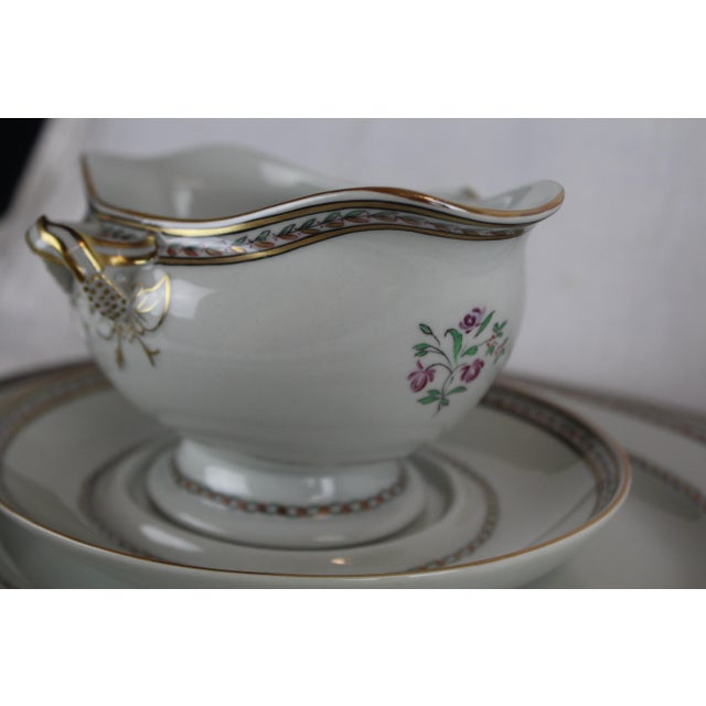 Chinese Vista Alegre Platters & Gravy Boat - Set of 6 For Sale - Image 3 of 8