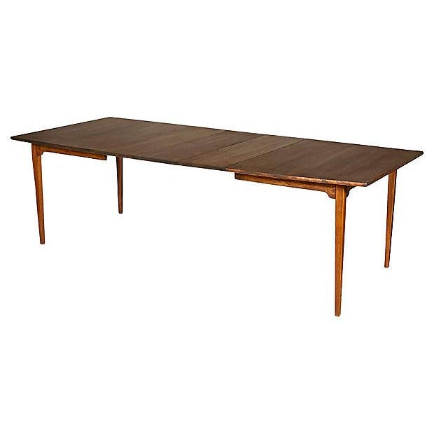 1960s Walnut Expandable Dining Table - Image 7 of 7