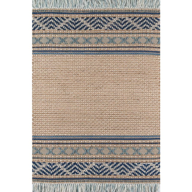 Blue Esme Blue Hand Woven Area Rug 8' X 10' For Sale - Image 8 of 8