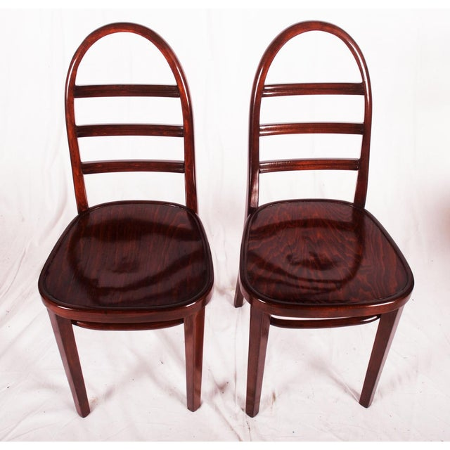 Art Deco beechwood chair by Thonet, 1919 For Sale - Image 6 of 9