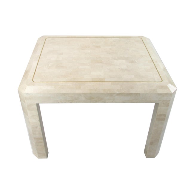 Tessellated Limestone Side Tables, Pair - Image 5 of 7
