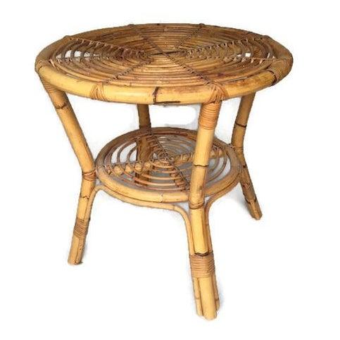 Albini-Style Bentwood Bamboo Side Table - Image 2 of 7