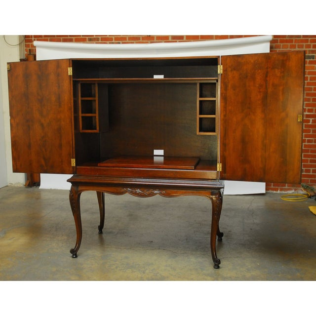 Louis XV Style Carved Walnut Cabinet on Stand - Image 8 of 10