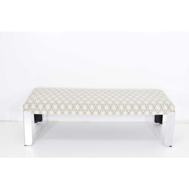 Beautiful bench with chrome legs by Milo Baughman for Thayer Coggin. Easy to change fabric if desired.