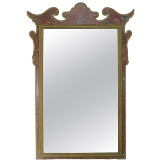 19th Century Italian Faux Marble Painted Mirror For Sale