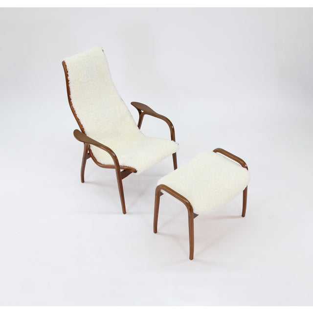 Vintage Yngve Ekstrom for Swedese Lamino Chair and Ottoman For Sale In Phoenix - Image 6 of 13
