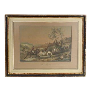 French Equestrian Lithograph For Sale