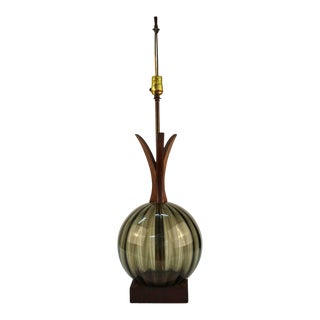 Scandinavian Modern Mid-Century Table Lamp in Pineapple Form For Sale