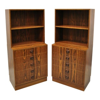 Danish Mid Century Modern Rosewood Modular Bookcases - a Pair For Sale