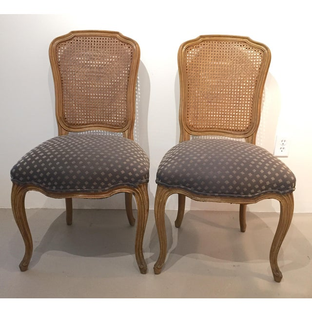 Queen Anne Caned Back Chairs - Set of 4 For Sale - Image 4 of 9