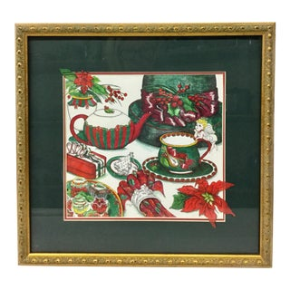 """Original """"Holly Christmas"""" Framed Print by Tiley For Sale"""