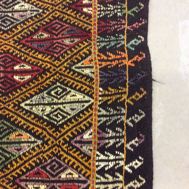 "1960s 1960's Turkish Kilim - 5'6""x8'1"" For Sale - Image 5 of 10"