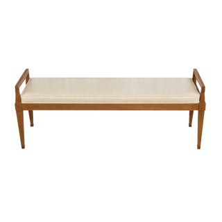 1960s Vintage Mid-Century Modern Upholstered Bench