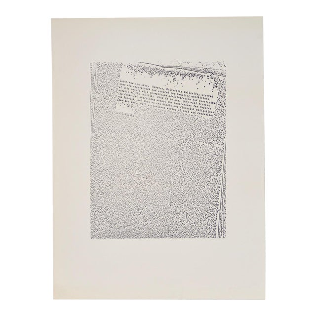 "John Link (American, B.1942) ""Untitled"" Limited Edition Lithograph C.1973 For Sale"