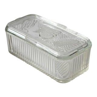 Depression Glass Refrigerator Dish