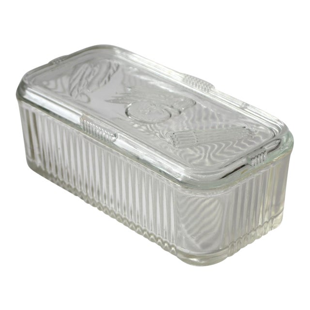 Depression Glass Refrigerator Dish For Sale