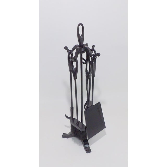 Vintage Wrought Iron Fireplace Tool Set For Sale In Sacramento - Image 6 of 6