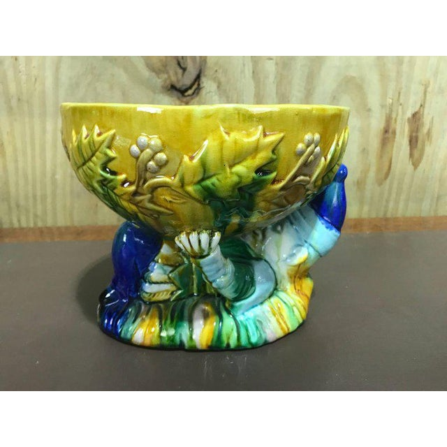 "Majolica George Jones Style ""Punch"" Bowls - A Pair For Sale - Image 4 of 10"