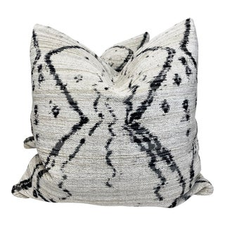 "Kravet ""Globe Trot"" in Nero 22"" Pillows - a Pair For Sale"
