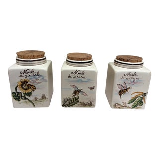 Vintage Set of Honey Jars For Sale