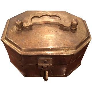 Vintage Brass Cricket Box For Sale