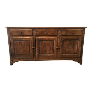 Antique French Rustic Oak Sideboard Server