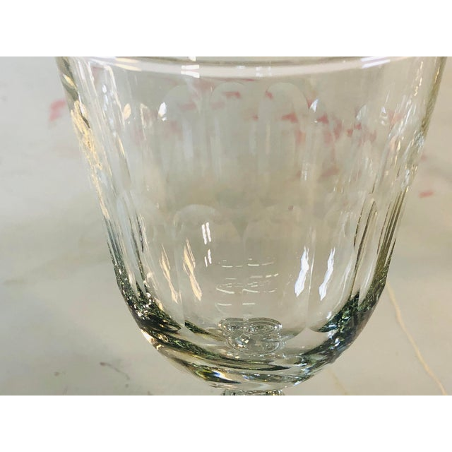 Transparent 1950s Mitred Glass Wine Stems, Set of 6 For Sale - Image 8 of 9