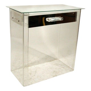 1960s Lucite Vanity / Entry Console in Manner of Charles Hollis Jones For Sale