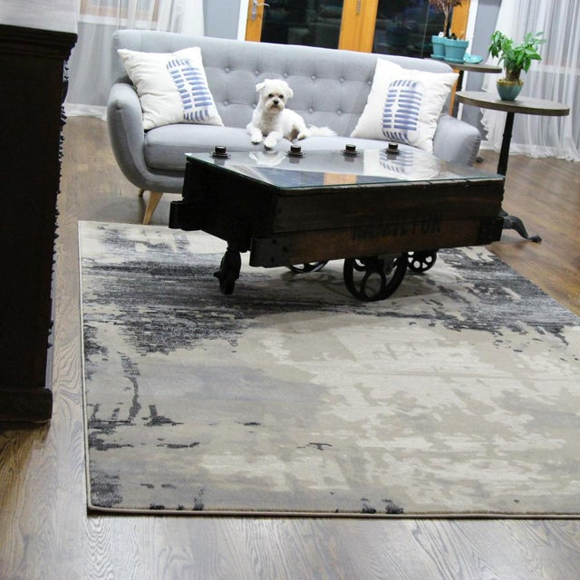 Contemporary Brown Abstract Rug - 8' X 10'7'' - Image 4 of 6
