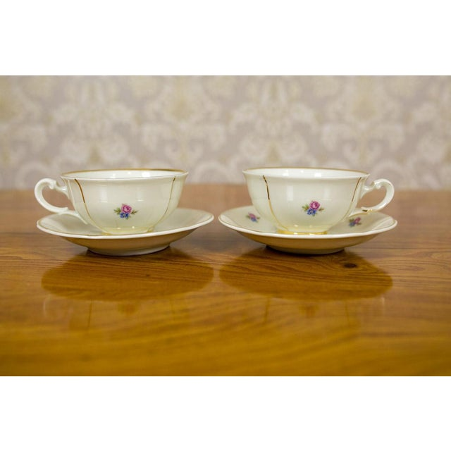 1918-1948 Karlskrona Porcelain Coffee Service for 6 - Set of 15 For Sale - Image 4 of 13