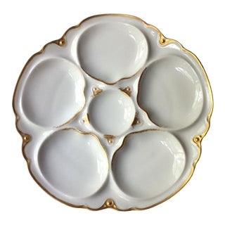 Early 20th Century French Haviland Porcelain Oyster Plate For Sale
