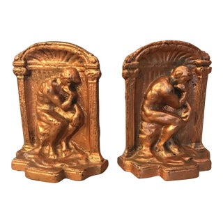 The Thinker Bookends - A Pair For Sale