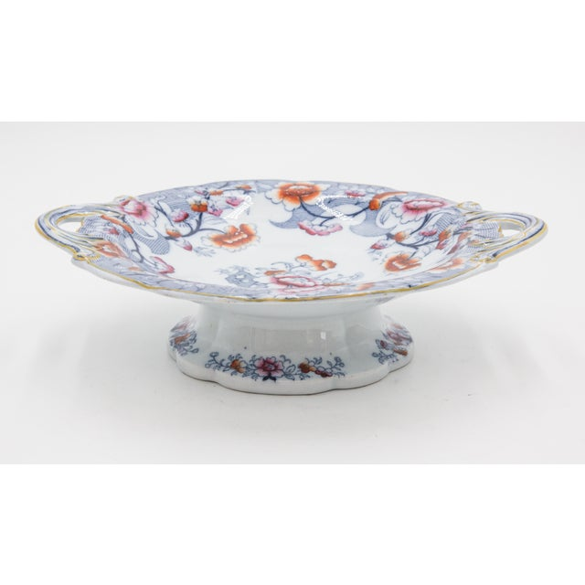 Late 19th Century 19th Century English Imari Porcelain Compote For Sale - Image 5 of 9
