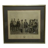 """Image of 1890s Antique """"Chevalier"""" Russian Framed and Matted Print by A. Ladurner For Sale"""