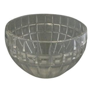 Waterford Crystal Quadreta Round Bowl For Sale