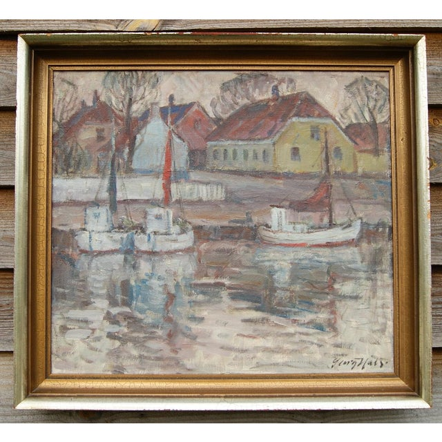 """Nørrekaas - Rønne"" Painting by Georg Hals - Image 2 of 5"