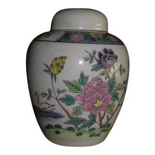 Japanese Otagiri Mercantile Company Floral Ginger Jar