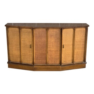 Vintage Woven Front Credenza For Sale