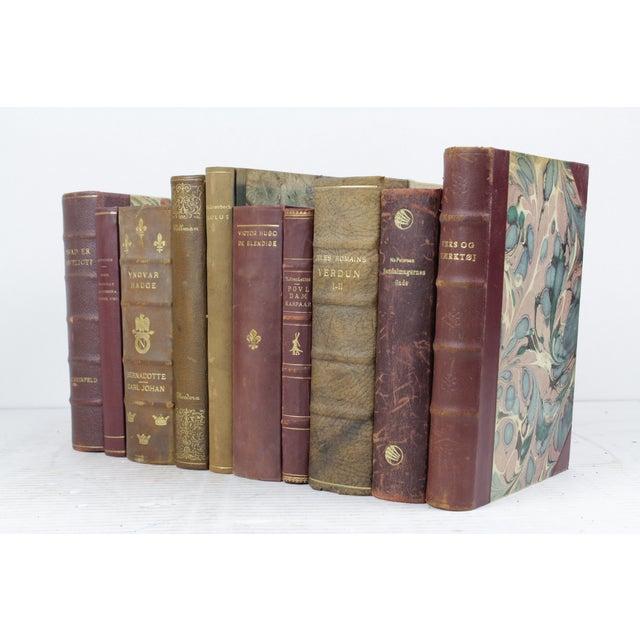 Wine & Olive Toned Leather Bound Books - 10 - Image 2 of 3
